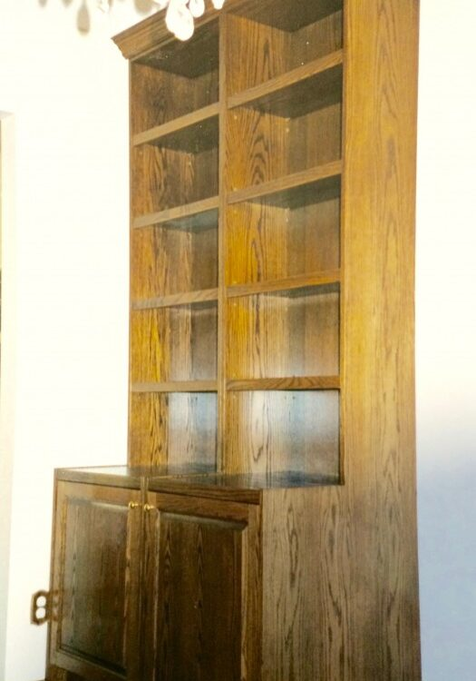 Oak Wall Unit, Oak Shelves, Wall Units Entertainment center, custom furniture