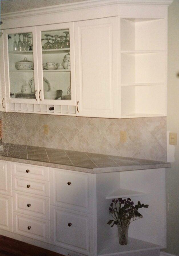 Kitchen Cupboard, wine rack, buffet, custom woodworking, kitchen drawers