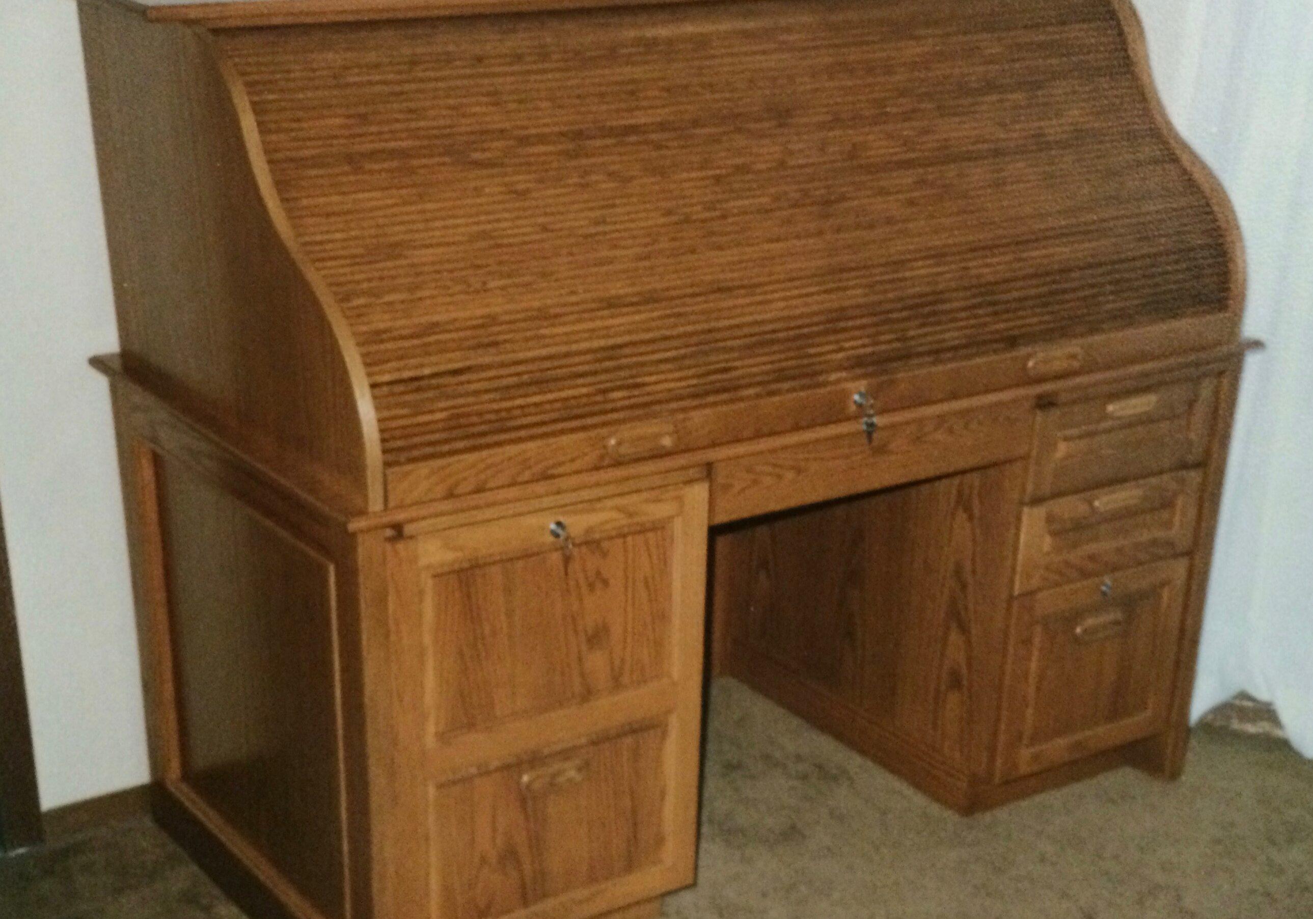 custom desk, roll top desk, office desk