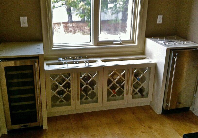 liquor cabinet, wine rack, bar fridges