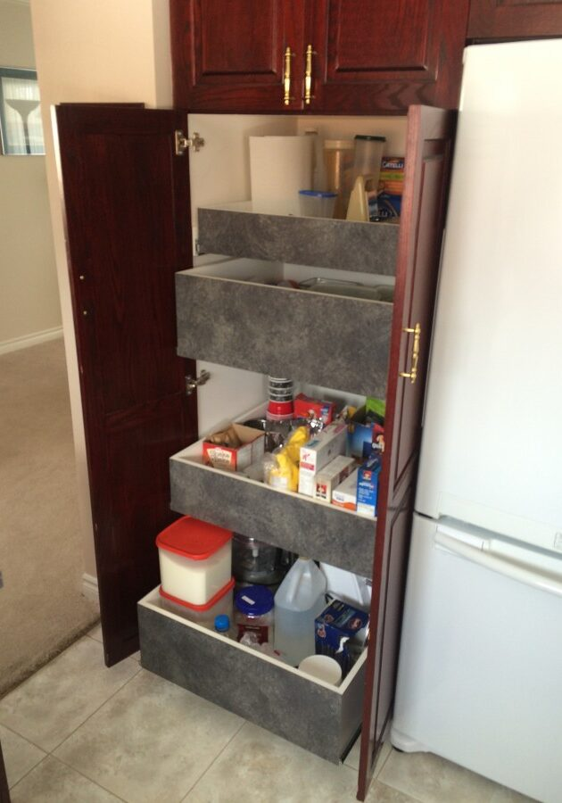 kitchen, pantry drawers, pull out kitchen drawers, kitchen drawers, kitchen storage
