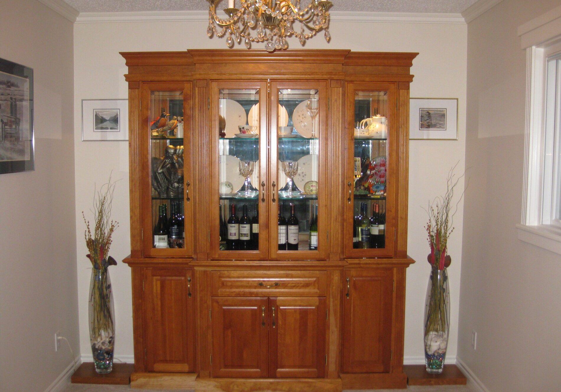 wall unit, china cabinet, custom made wall unit,