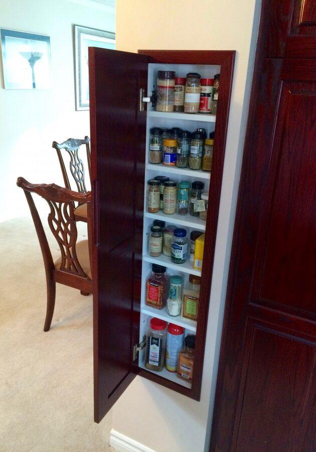 Custom Made Kitchen Spice Cupboard, Kitchen Spice Cupboard, built in, builtin